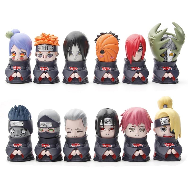 12 Styles Uzumaki Naruto Kakashi Uchiha Sasuke Sakura Itachi Action Figure Anime Model PVC Statue Collectible Toy