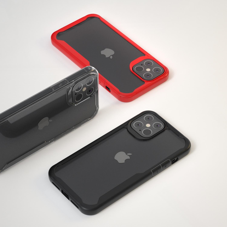 Para Apple iphone 12 Pro Max funda de silicona suave + transparente PC Armor funda protectora para iphone 12 12pro 12max shell