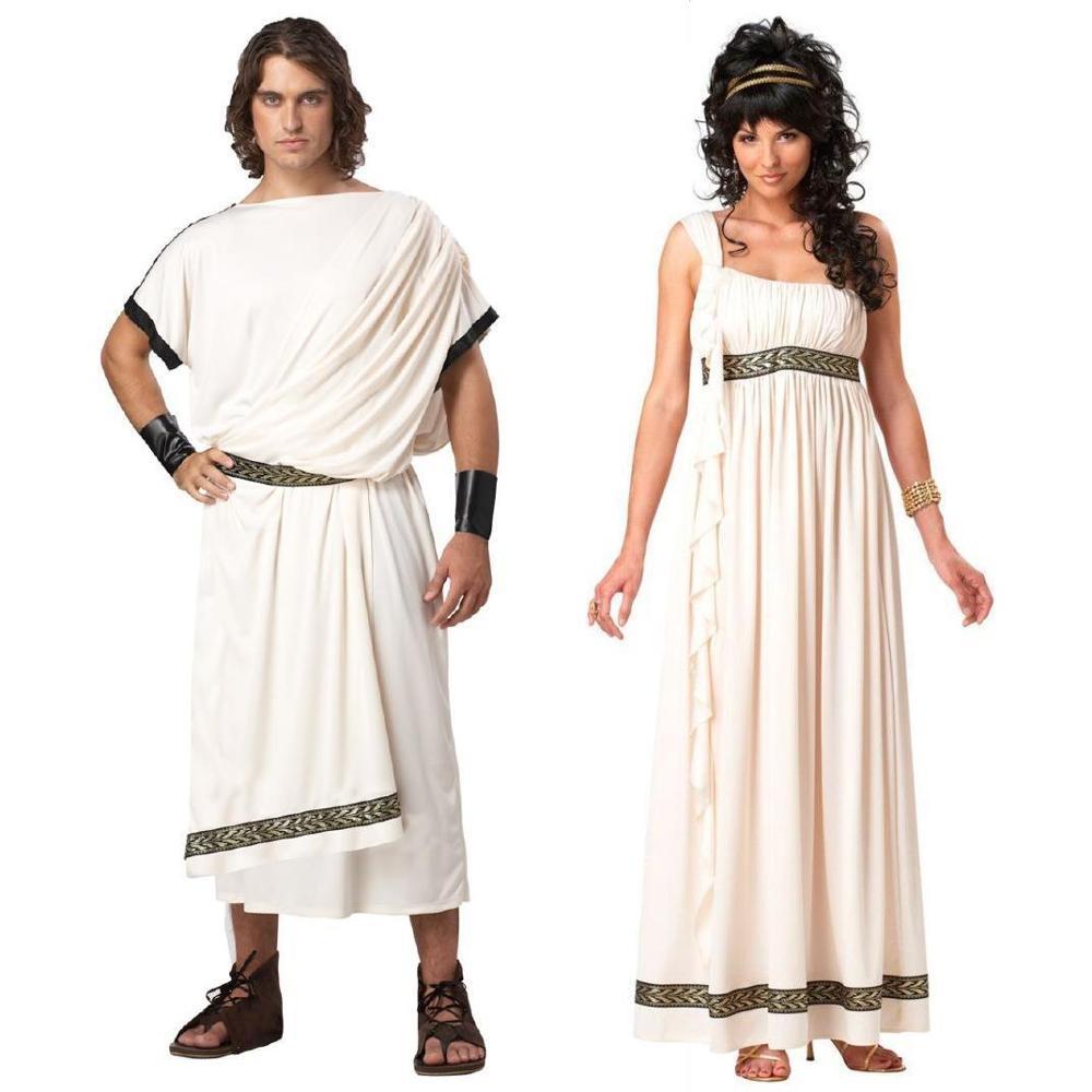 زي الهالوين للرجال والنساء ، توجا روما القديمة ، الأساطير ، إلهة الإلهة ، فانتازيا ، ملابس تنكرية