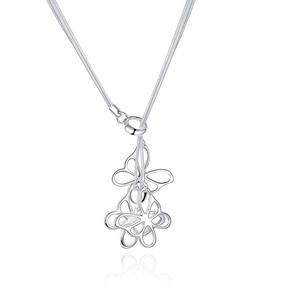TN043 Butterfly Pendant  925 Sterling Silver For Women Wedding necklace Jewelry