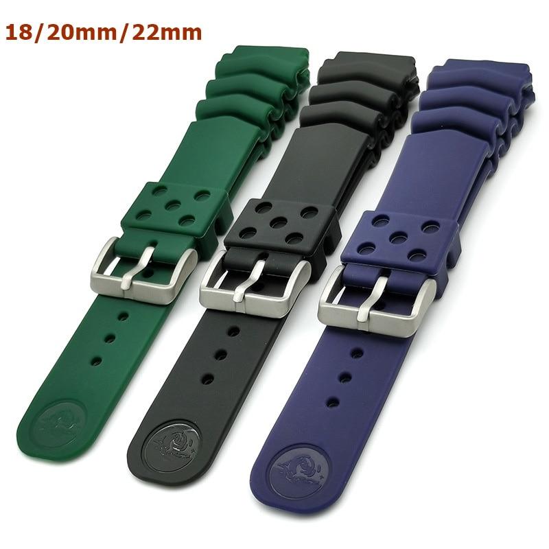 Correa de silicona para reloj Seiko PROSPEX Black Monster, con logotipo, resistente...
