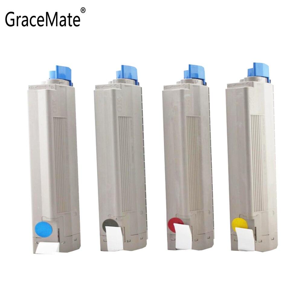 GraceMate-خرطوشة حبر متوافقة مع طابعات OKI C810 C810N C810DN C810CDTN C830 C830N C830DN ، أسود اللون