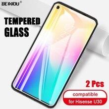 2 pçs vidro temperado completo para hisense u30 protetor de tela 2.5d 9h vidro temperado para hisense u30 película protetora