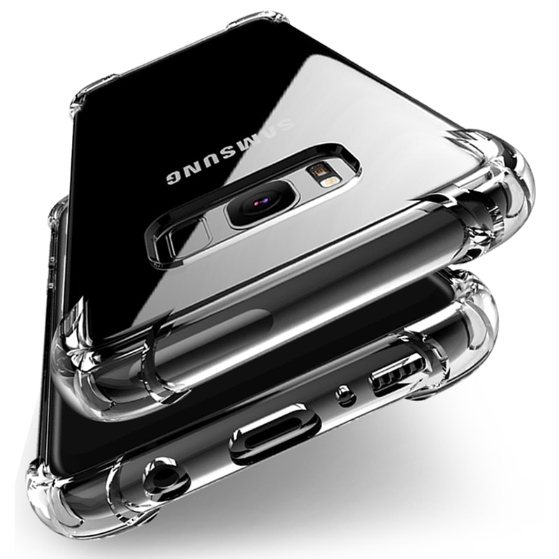 Luxury Silicone Case For Samsung Galaxy S20 FE S10 S9 S8 Plus S10E Transparent Soft Case For Samsung