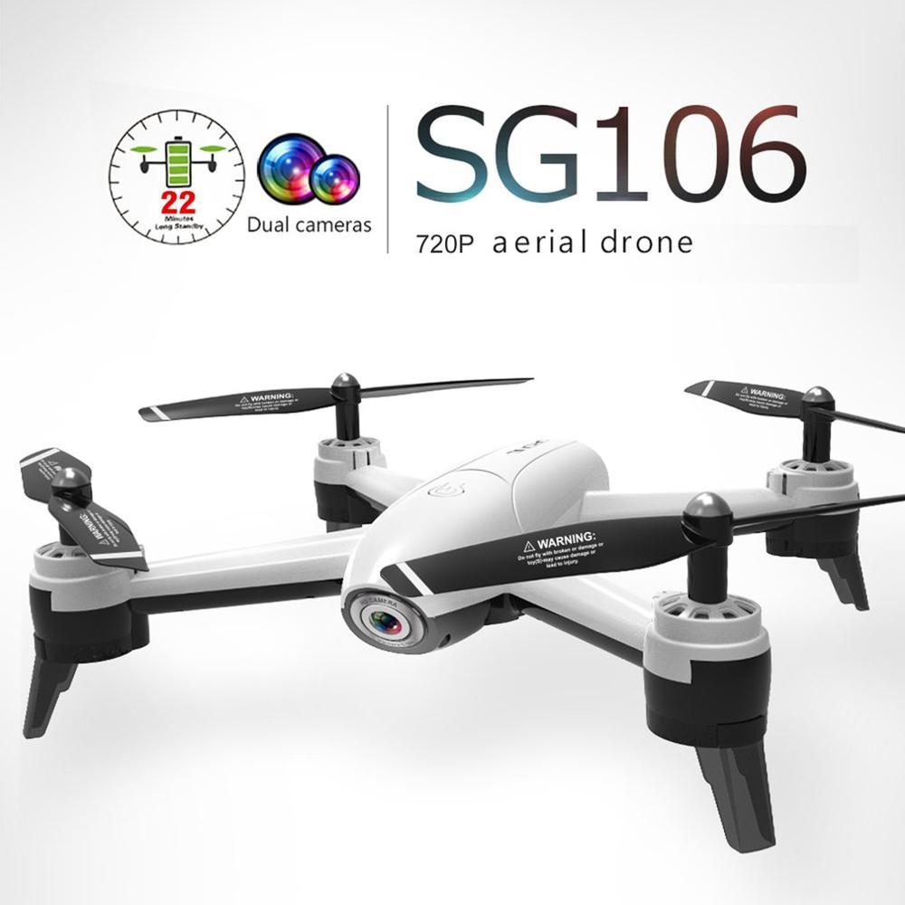 SG106 RC Drone mit l 2/3 Batterien 720P/1080P/4K HD Dual Kamera FPV WiFi echtzeit Luft Video Optischen Fluss RC Quadcopter Geschenk