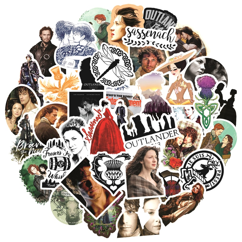10/30/50pcs/pack Classic TV Show Outlander Stickers For Motorcycles Water cups Furniture Children's toys Luggage Skateboards Box