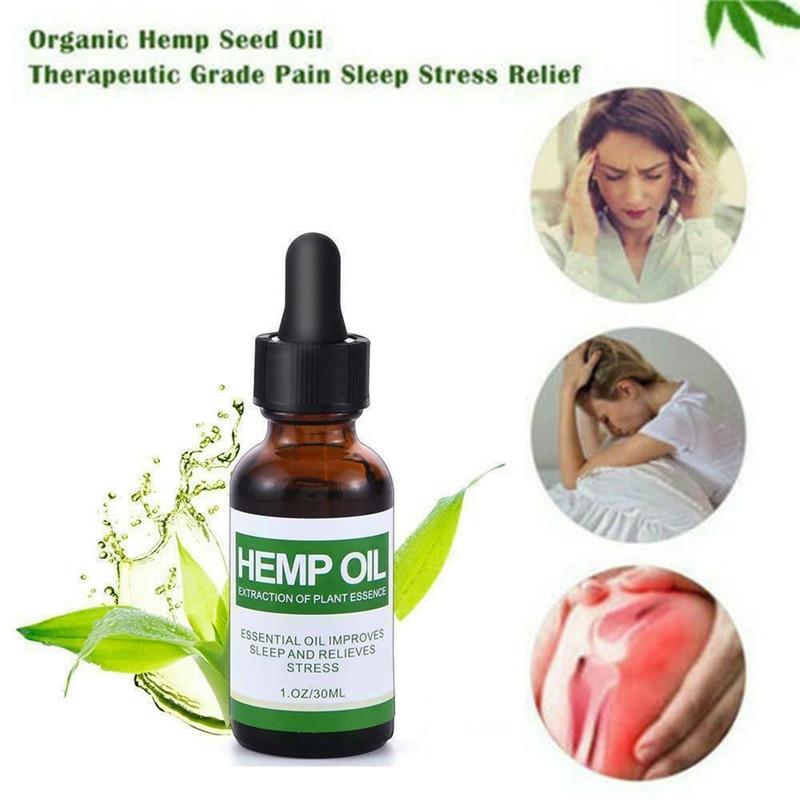 30ml Best Natural Hemp Oil Drops Relieve Pain Relief Stress Organic Herbal CBD Moisturizing Massage Essential Oil Help Sleep Oil