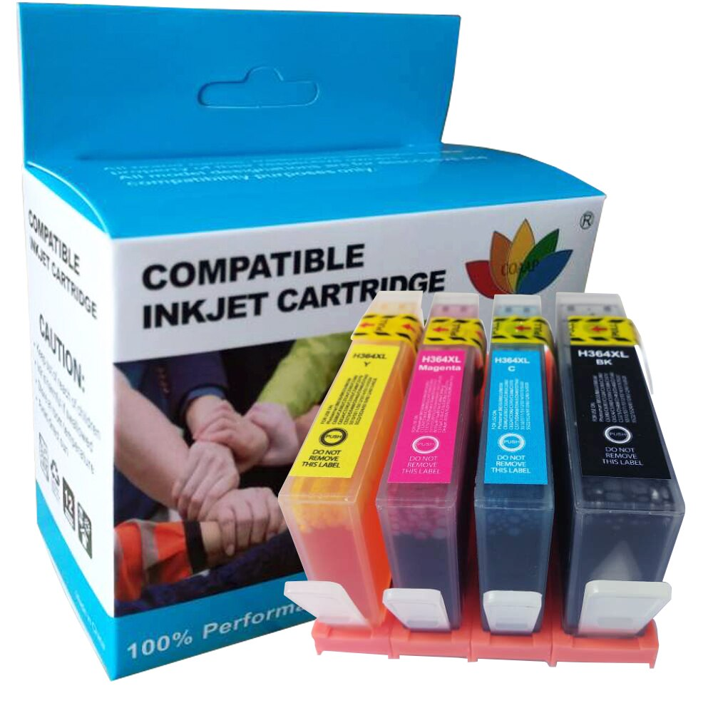 Cartucho de tinta 4x Compatible 364xl para impresora hp 364 hp Photosmart 5524 7520 7510 5510 5520 con chip