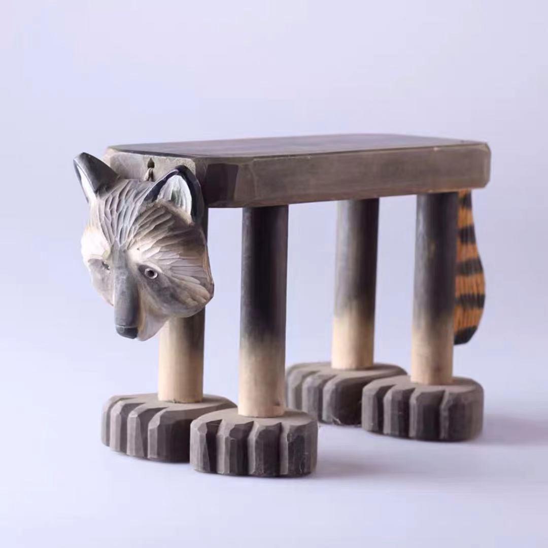 Детская мебель Children's Stool Furniture барный стул Lovely Animal Solid Wood Home Creative Small Bench Hand-carved Furnishings