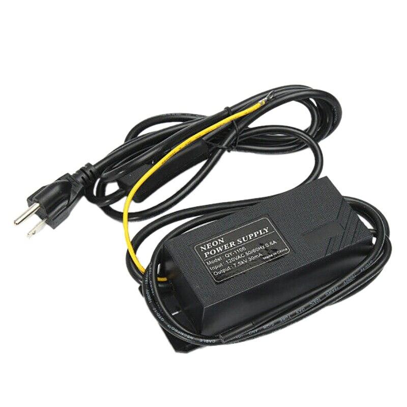 Transformador de luz de neón de 7.5KV 30MA, transformador electrónico de fuente de alimentación, enchufe estadounidense