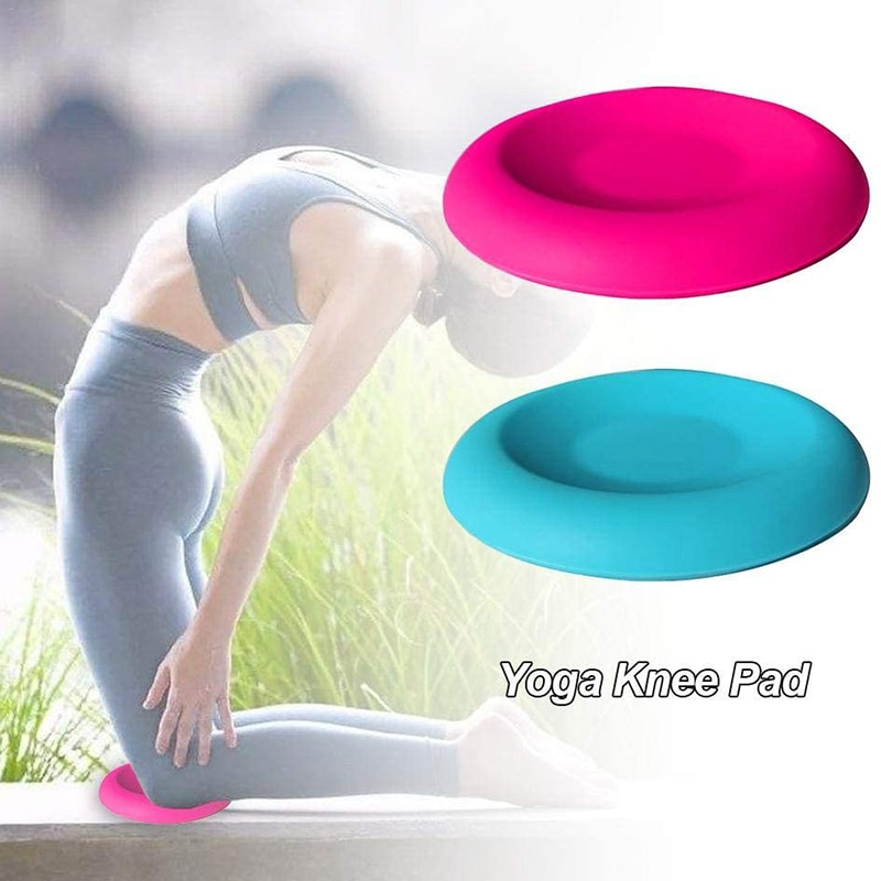1pc Mini Yoga Mat Anti-slip Knee Pad Fitness Balance Pads Portable Workout Gear Yoga Gel Knee Pads Fitness Equipment