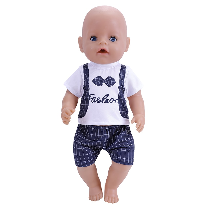 2021 New Baby New Born Fit 18 inch 43cm Doll Clothes Accessories Shorts Peach Heart Dress Suspender