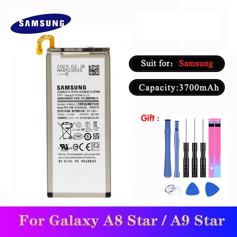 20pcs/lot High Quality Battery EB-BG885ABU For Samsung Galaxy A8 /A9 Star SM-G885F G8850 G885Y Phone Replacement Bateria 3700mAh