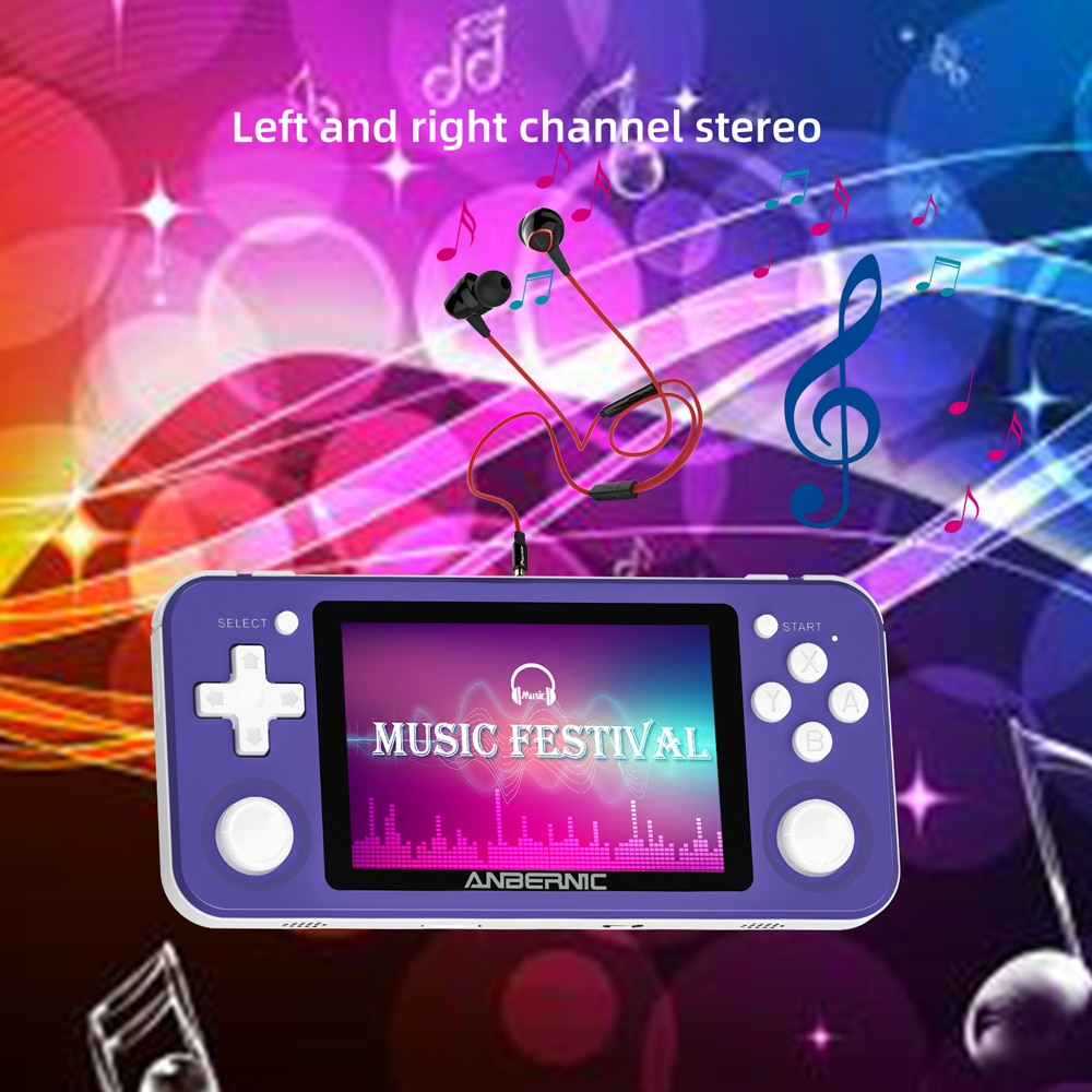 ANBERNIC RG351P Wifi PS1 2400 Retro GAMES 64G Portable Handheld Game Console RK3326 N64 Pocket Game Player Play Station Gifts enlarge