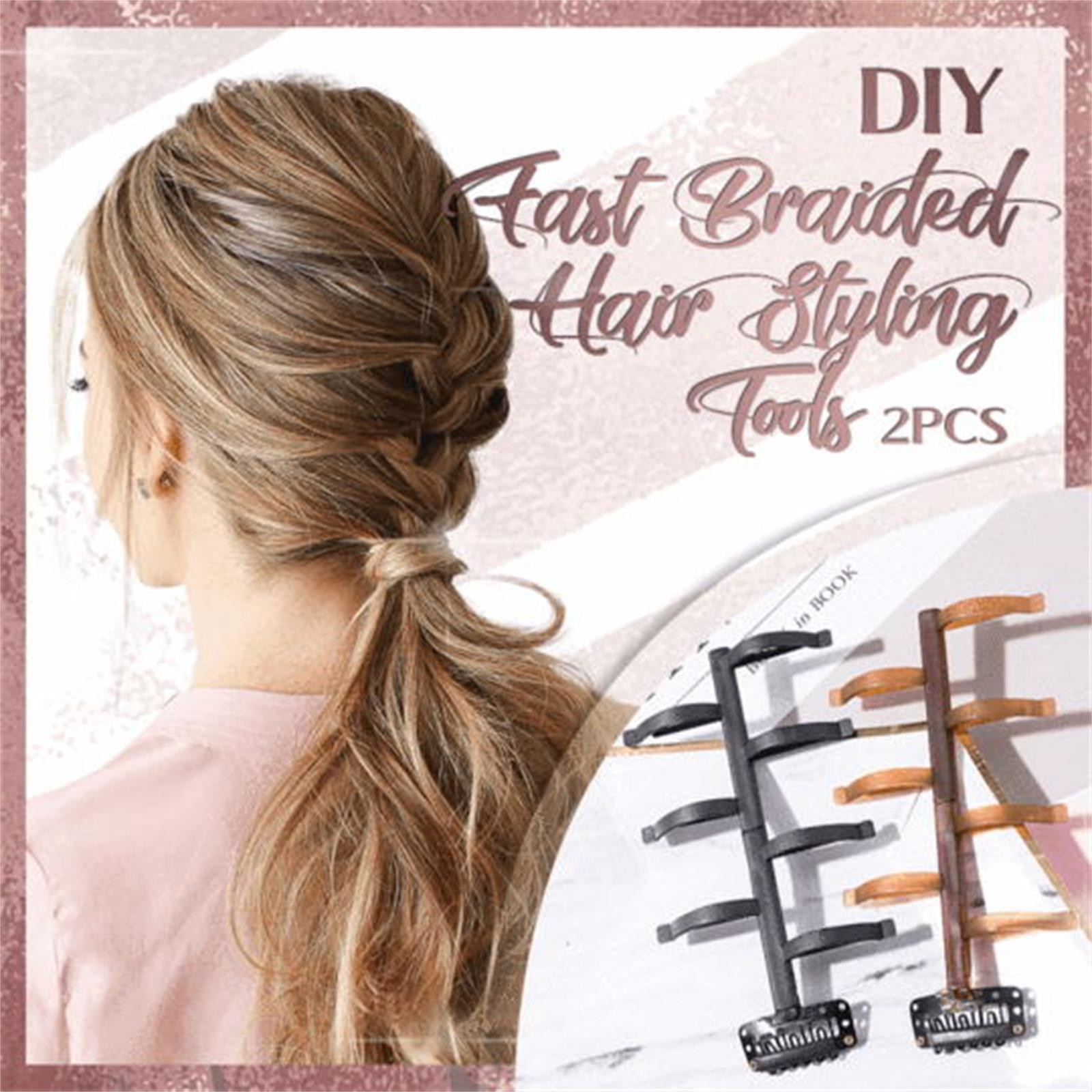 Diy Fast Braided Hair Styling Tools Quick Hair Tools Women Hair Accessories Diy Fast Hair Styling To