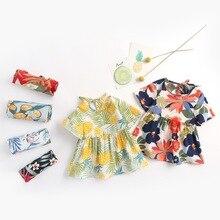Yg brand children's wear 2021 summer new casual short sleeve round neck printed Baby Dress