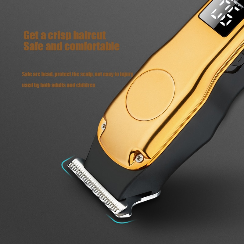 Professional Hair Clippers Barber Haircut Cutter Rechargeable Razor Trimmer Adjustable Cordless Edge for Men Copper Core Motor enlarge