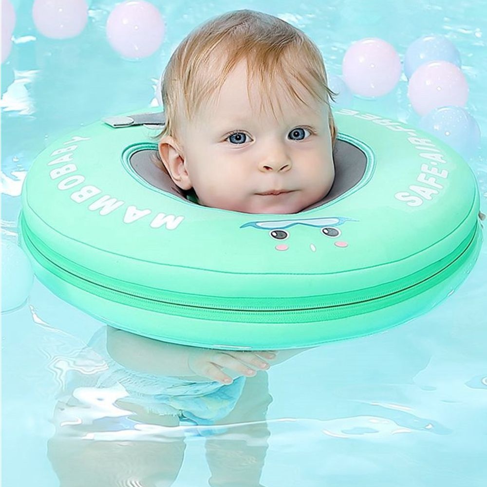 Mambobaby Non-inflatable Baby Neck Swimming Ring Floating Swim Floats Bathtub Beach Pool Toys Access