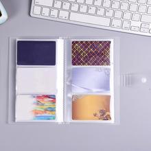 1 Uds 240 ranuras portadores de identificación de plástico tarjeta de negocios libro de gran capacidad tarjeta de visita Clip Ticket colección libro Tarjeta stock