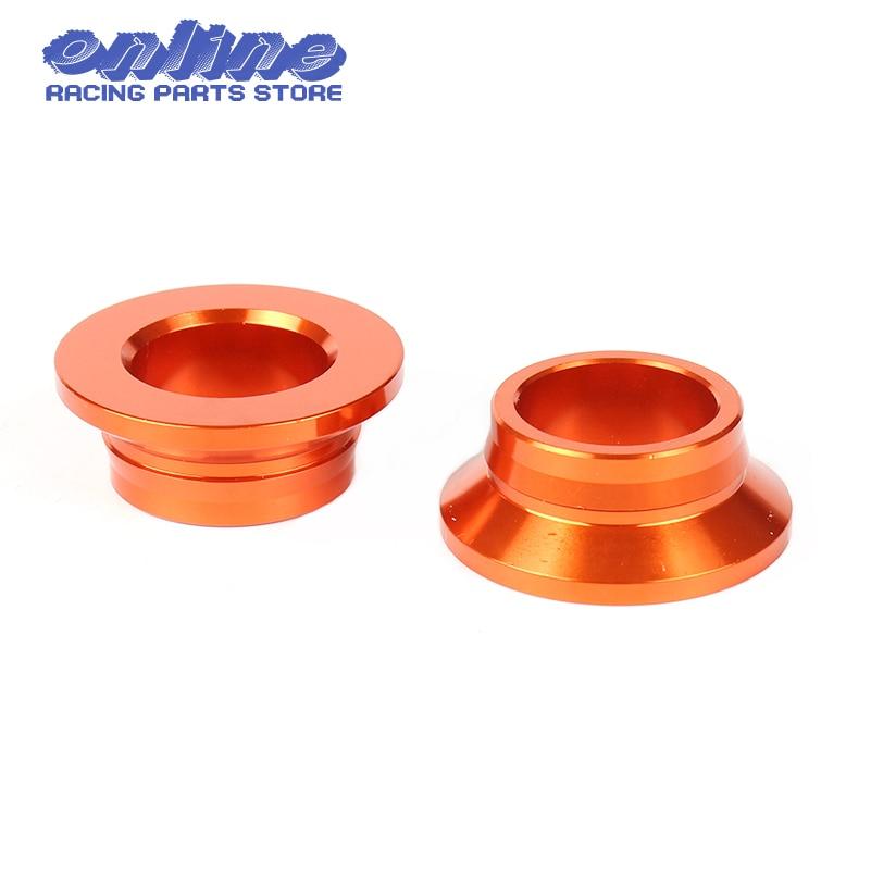 Orange CNC Billet Aluminum Rear Wheel Spacers/ Hub Collars for KTM 125 150 250 300 450 SX XC XCF SXF XC-F SX-F