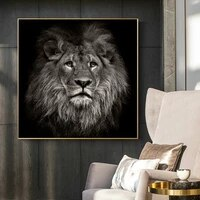 africa wild head lion animal oil painting on canvas posters prints wall art pictures cuadros for living room decorative