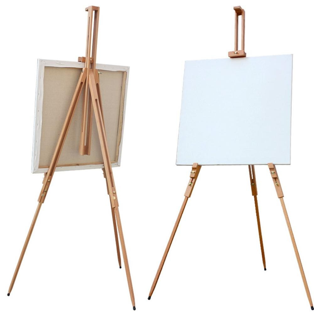 Регулируемая подставка для мольберт для художника из массива бука, Портативный Складной Телескопический штатив для мольберта для рисовани...