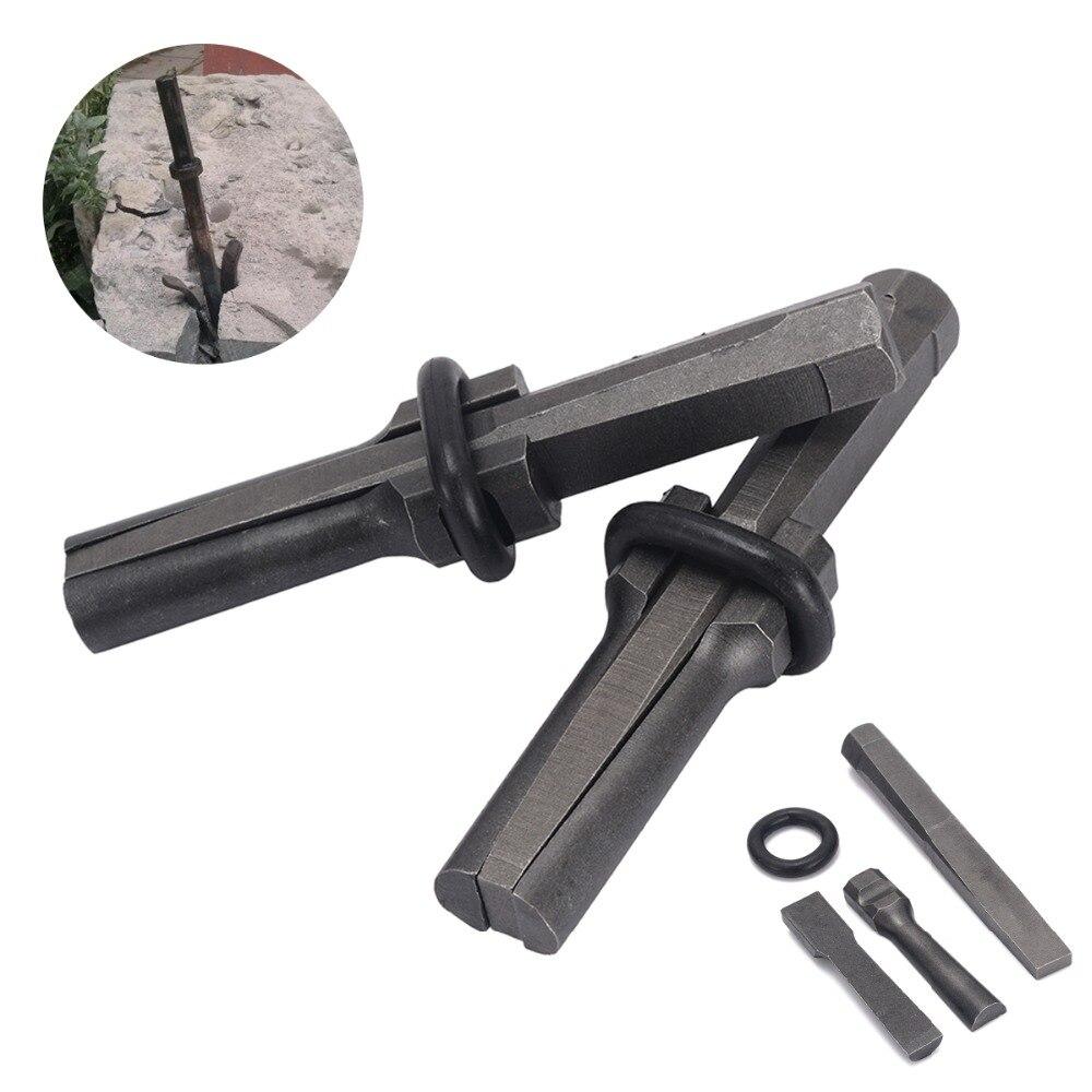 7 Set nuevo divisor de piedra 16mm 18mm Metal Plug cuñas y plumas Shims concreto Rock Splitters herramienta de mano