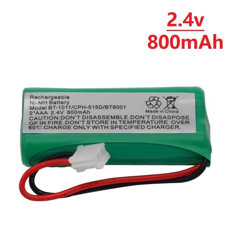 Batería de teléfono inalámbrica Ni-MH de 2,4 V y 800mAh para Uniden BT-1011 BT-1018 BT1011 BT1018 BT8001, batería recargable de BT-694 CPH-515D