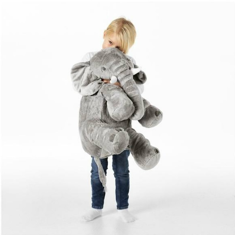 Joylove elefante travesseiro de pelúcia brinquedo confortável travesseiro do bebê para o bebê macio dormir de volta almofada huggable elefante travesseiro