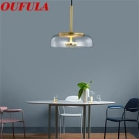 hongcui modern pendant lights brass hanging 220v 110v contemporary home creative decoration suitable for dining room