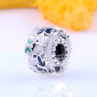 claudia butterfly surround 925 silver elegant fixing clip beads fit original bracelet pendant diy jewelry charms gift
