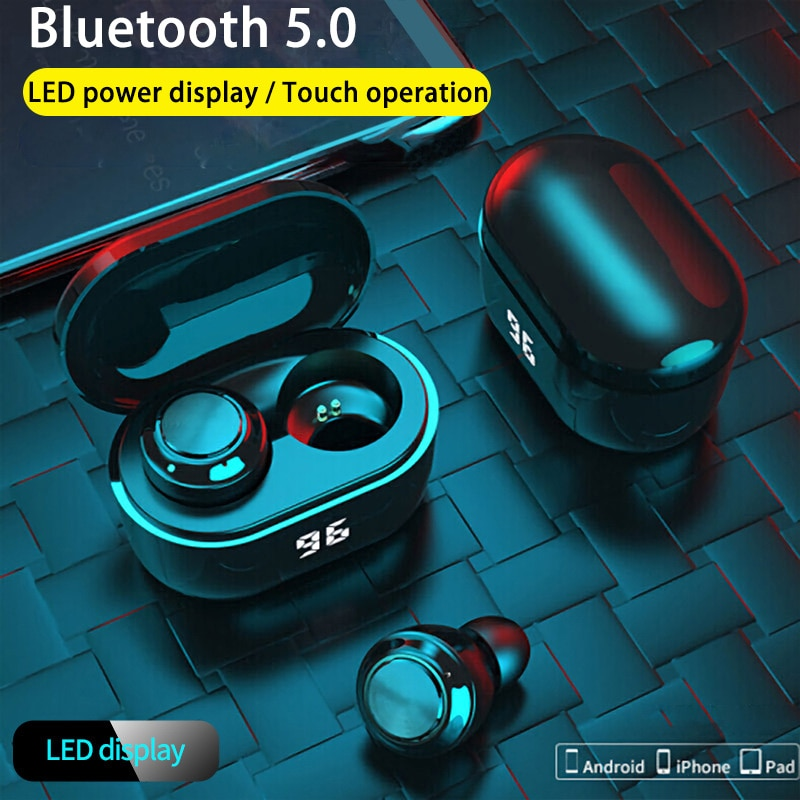 Bluetooth Earphones Waterproof Sport Headsets Wireless Headphones with Microphone A6 TWS Earphone Touch Control Music Earbuds enlarge