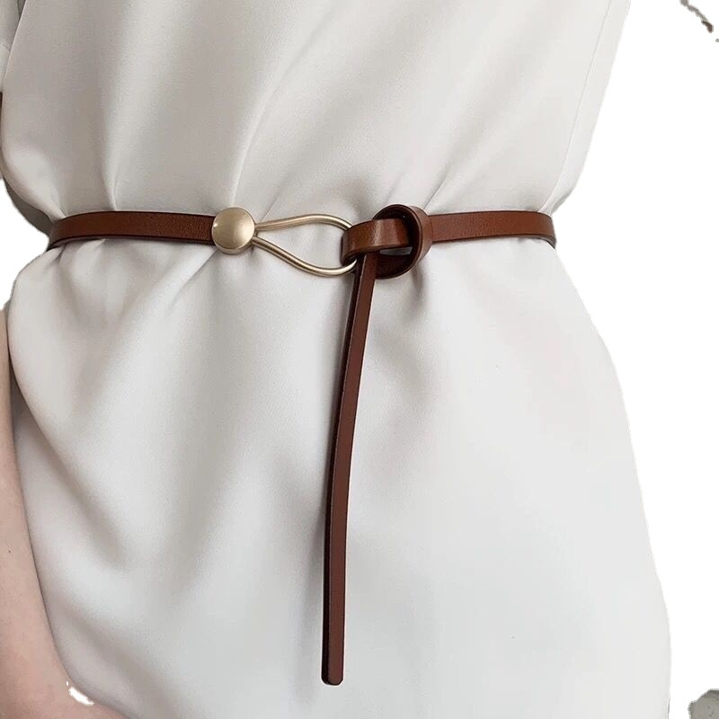 Fashion Thin PU Leather Belt Simulated Pearl Elastic Waist Belts Women Dress Skirt Decoration Fashio