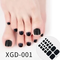 dropshipping 22tipssheet toe nail stickers adhesive toenail art polish tips nail wraps strips easy to wear manicure for women