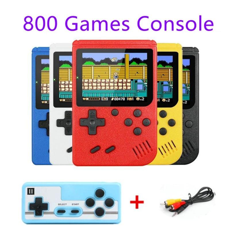 3-дюймовые портативные игровые консоли 800 в 1, ретро консоль для видеоигр, 8-битный игровой плеер, портативные игровые плееры, геймпады для дет...