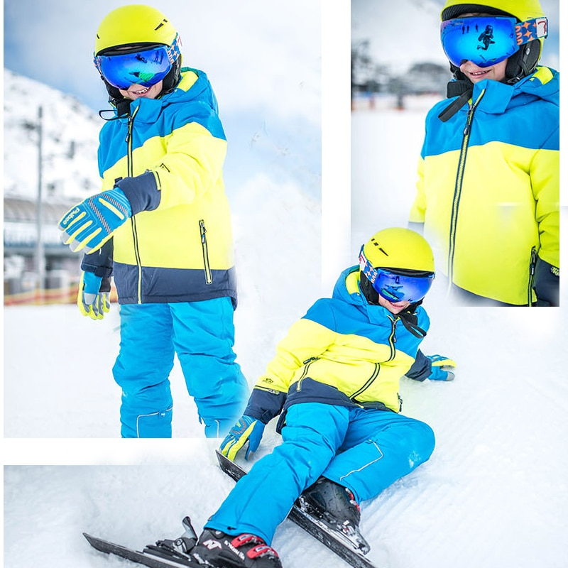 2021 Winter Snow Sport Suit Boy Hooded Fleece Children Ski Sets Outdoor Warm Kids Clothing Outfit  Baby Boy Costume Clothes enlarge