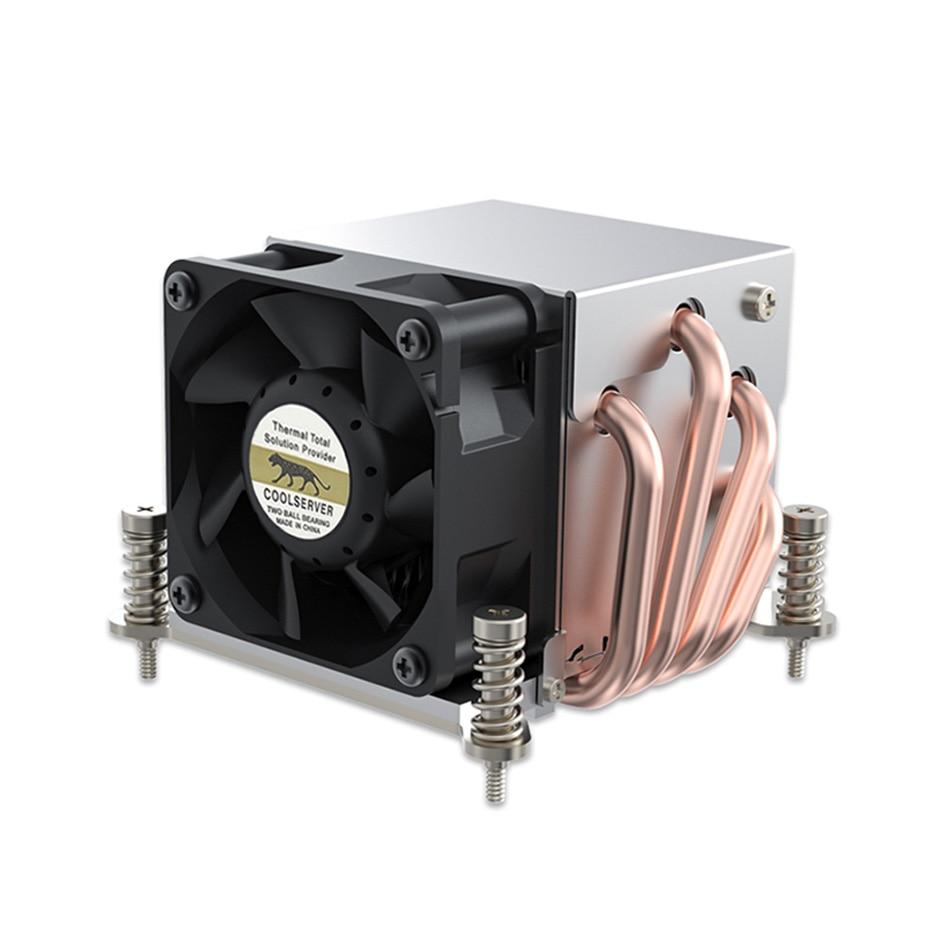 مروحة تبريد كول سيرفر R63 4 أنبوب حرارة 2U مبرد لوحدة المعالجة المركزية بمحطة عمل للكمبيوتر لـ Intel LGA2011 1700 115X AMD AM4