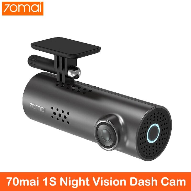 Caméra voiture DVR   Commande vocale, anglais 70mai, voiture DVR, Vision nocturne 1080HD, Dashcam, WIFI, caméra 70 mai, tableau de bord, caméra 1S, APP