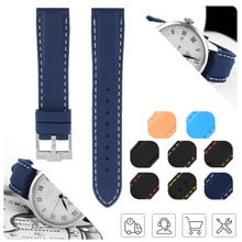 Watch Band 18mm 20mm 22mm 24mm Silicone Rubber Sport for Black Bay Khaki Navy Field Man Women's Brac