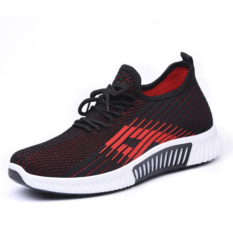 Zapatos de primavera para mujer, zapatillas de correr, zapatos informales para mujer, transpirables 2020, zapatos deportivos para caminar, zapatos planos de malla para mujer
