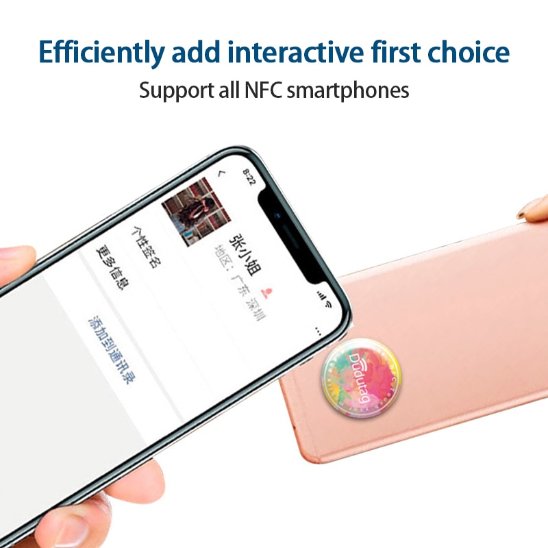 Dudutag Nightclub Social Interaction NFC Patch Friend Sticker Dating Chip Tags Conection Tool Making Friends Tags For Xiaomi Lg