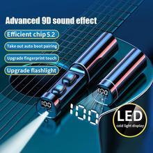 N21 Беспроводной наушники с светодиодный Мощность Дисплей Фонарик Bluetooth V5.2 Bluetooth Сенсорный Экран вкладыши Bluetooth Беспроводной наушники
