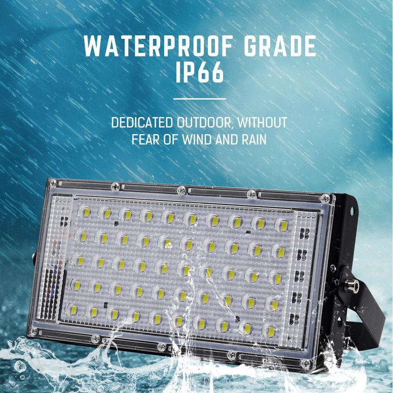 240V 50W LED Flood Light Garden Outdoor Landscape SMD Spotlight Waterproof Wall Washer Lamp Projector Outdoor Lighting