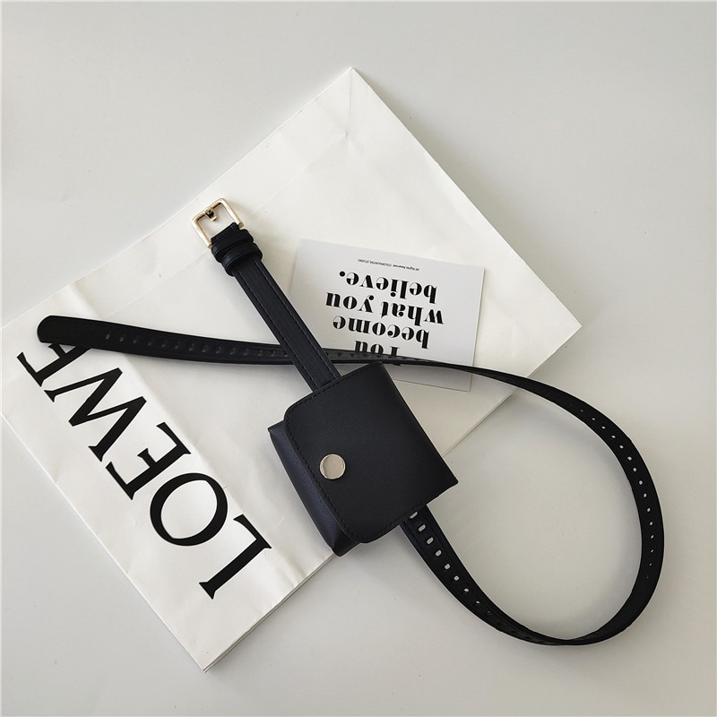 New Korean Style Women's Belt Retro with Packet Personality Full Hole Pant Belt All-Match Student Je