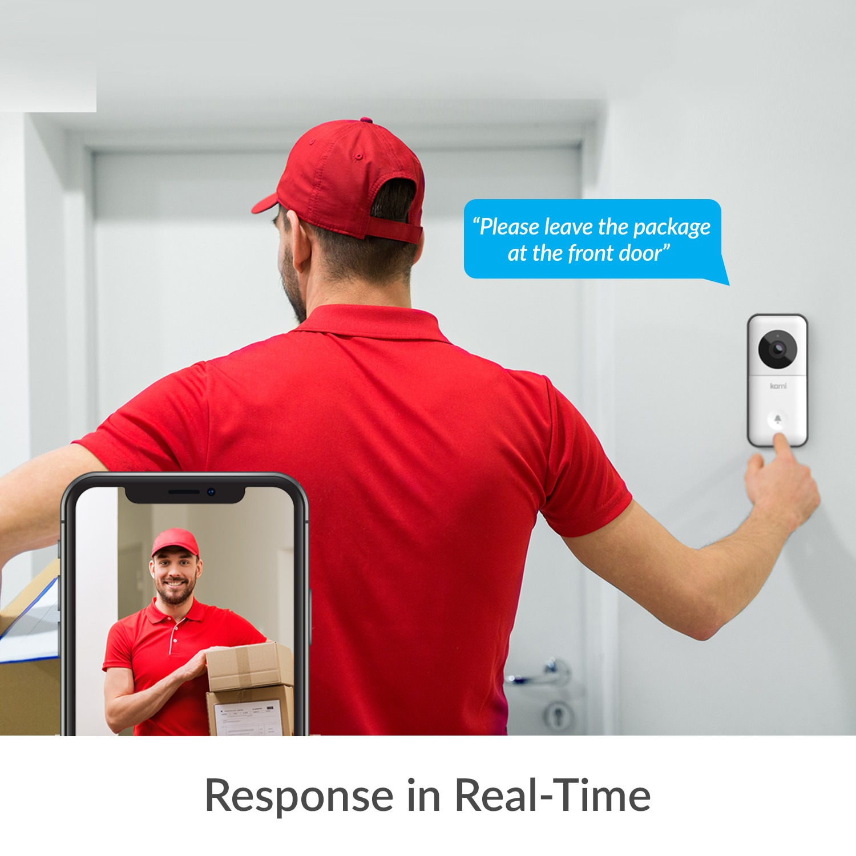 YI Kami Doorbell Smart Wireless Video HD Home Door Bell Ring Visual Intercom Face Detection IP Door Bell Security Cam enlarge
