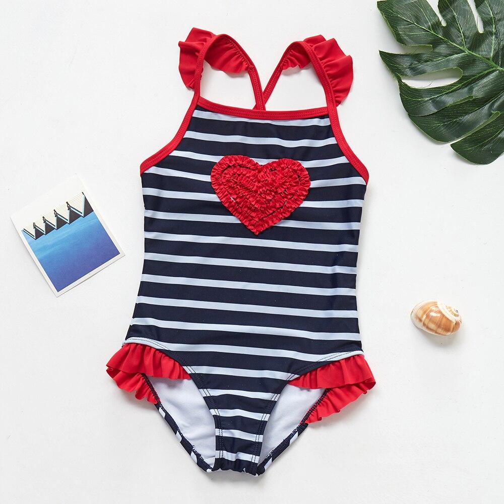 2019 nova uma peça flamingo meninas maiô rosa plissado estilo crianças roupa de banho 2-8 anos maiô beachwear 9021