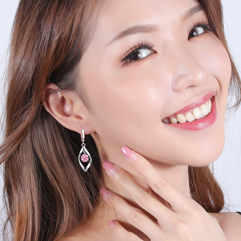 Nehzy 925 Sterling Silver New Women S Fashion Jewelry Earrings Pink Blue White Crystal Zircon Long Tassel Retro Hollow Earrings Hoop Earrings Aliexpress