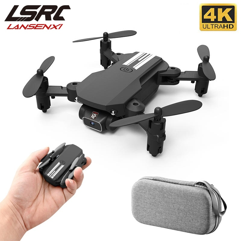 LSRC New Mini Drone 4K 1080P HD Camera WiFi Fpv Air Pressure Height Maintain Black and Gray Foldable Quadcopter RC Dron Toy Gift xkj 2020 new mini drone 4k 1080p hd camera wifi fpv air pressure altitude hold black and gray foldable quadcopter rc dron toy