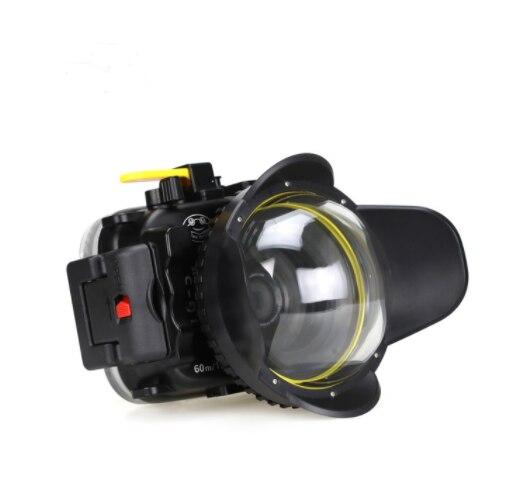 Seafrogs 60M Underwater Diving Waterproof Camera case for Olympus TG5 Camera With MEIKON 67mm Fisheyes TG-5 enlarge