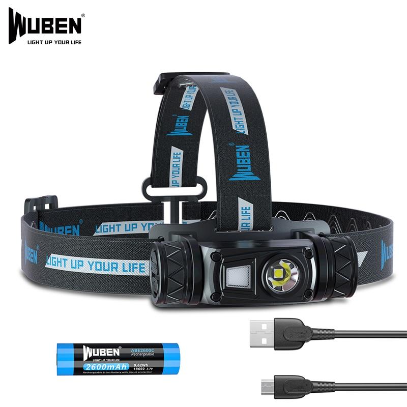 WUBEN H1 Flashlight headlight USB Rechargeable Flashlight 1200 Lumen Waterproof Head Lamp Fishing headlight Camping headlight